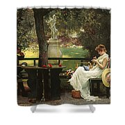In Love Shower Curtain by Marcus Stone