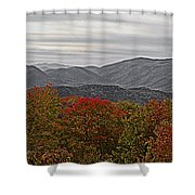 Infinite Smoky Mountains Shower Curtain by DigiArt Diaries by Vicky B Fuller