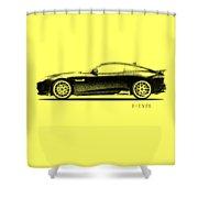 Jaguar F Type Shower Curtain by Mark Rogan