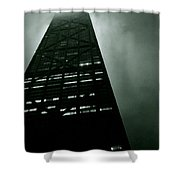 John Hancock Building - Chicago Illinois Shower Curtain by Michelle Calkins