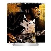 John Lee Hooker Shower Curtain by Paul Sachtleben