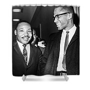 King And Malcolm X, 1964 Shower Curtain by Granger