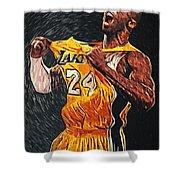 Kobe Bryant Shower Curtain by Taylan Soyturk