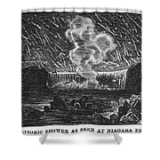 LEONID METEOR SHOWER, 1833 Shower Curtain by Granger