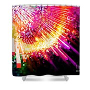lighting explosion Shower Curtain by Setsiri Silapasuwanchai