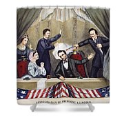 LINCOLN ASSASSINATION Shower Curtain by Granger
