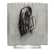 Lovers Shower Curtain by Rachel Christine Nowicki