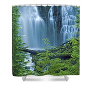 Lower Proxy Falls Shower Curtain by Greg Vaughn - Printscapes