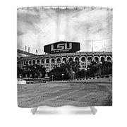 Lsu Tiger Stadium Shower Curtain by Scott Pellegrin