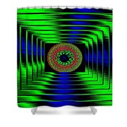 Luminous Energy 5 Shower Curtain by Will Borden