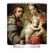 Madonna And Child Shower Curtain by Gaetano Gandolfi