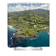 Maui Aerial Of Kapalua Shower Curtain by Ron Dahlquist - Printscapes