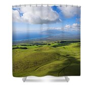 Maui Aerial Shower Curtain by Ron Dahlquist - Printscapes