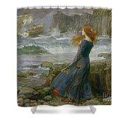 Miranda Shower Curtain by John William Waterhouse