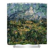 Mont Sainte Victoire Shower Curtain by Paul Cezanne
