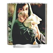 Mother And Child Shower Curtain by Ronald Chambers