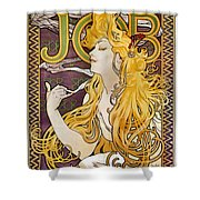 Mucha: Cigarette Papers Shower Curtain by Granger
