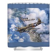 One Off At Darwin Shower Curtain by Randy Green