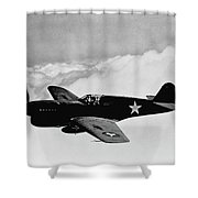 P-40 Warhawk Shower Curtain by War Is Hell Store