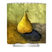 Pear Still Life Shower Curtain by Michelle Calkins