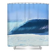 Perfect Wave At Pipeline Shower Curtain by Vince Cavataio - Printscapes