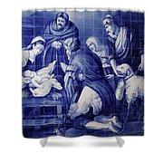 Portuguese Azulejo Tiles Shower Curtain by Gaspar Avila