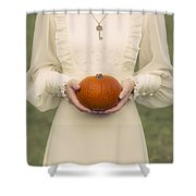 Pumpkin Shower Curtain by Joana Kruse