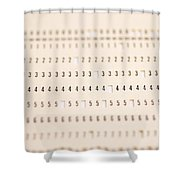 Punch Card Shower Curtain by Photo Researchers, Inc.