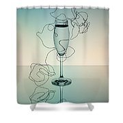Reflection Shower Curtain by Nailia Schwarz