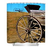 Rustic Wagon Shower Curtain by Perry Webster