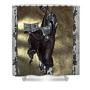 Saint Luke Shower Curtain by Granger