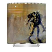 Savior In A Storm Shower Curtain by Todd Krasovetz