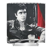 Scarface Shower Curtain by Luis Ludzska
