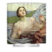 Sense Of Sight Shower Curtain by Annie Louisa Swinnerton