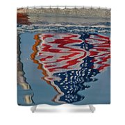 Stars And Stripes On The Water Shower Curtain by Steven Lapkin