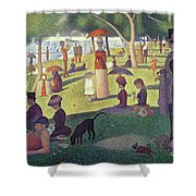 Sunday Afternoon On The Island Of La Grande Jatte Shower Curtain by Georges Pierre Seurat