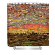 Sunset Shower Curtain by James W Johnson