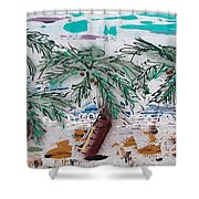 Surf N Palms Shower Curtain by J R Seymour