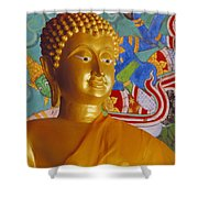 Thailand, Lop Buri Shower Curtain by Bill Brennan - Printscapes