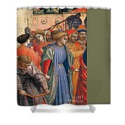 The Annunciation Shower Curtain by Fra Angelico