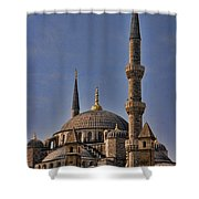 The Blue Mosque In Istanbul Turkey Shower Curtain by David Smith