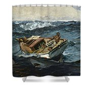 The Gulf Stream Shower Curtain by Winslow Homer