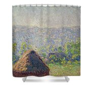 The Haystacks Shower Curtain by Claude Monet
