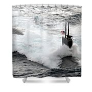The Los Angeles-class Fast Attack Shower Curtain by Stocktrek Images