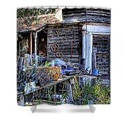 The Old Shed Shower Curtain by David Patterson