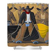 The Posse Shower Curtain by Lance Headlee