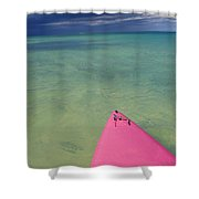 Tip Of Pink Kayak Shower Curtain by David Cornwell/First Light Pictures, Inc - Printscapes