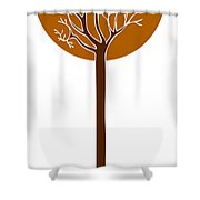 Tree Shower Curtain by Frank Tschakert