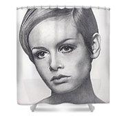Twiggy Shower Curtain by Karen  Townsend
