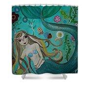 Under The Sea Shower Curtain by Pristine Cartera Turkus